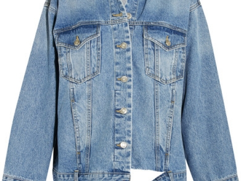 Oversized Distressed Denim Jacket HK$3,195 (SJYP STEVE J & YONI P)