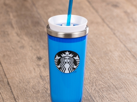 Starbucks藍色凍咖啡製作杯