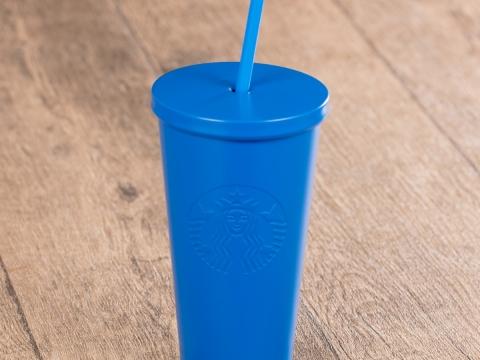 Starbucks藍色不銹鋼凍飲杯