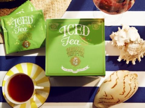 摩洛哥薄荷綠茶手工冰茶包用上一片片全葉原茶分裝在手工茶包內,每包7.5克,剛好泡出一公升的冰茶。HK$238/每盒7包(TeaWG)