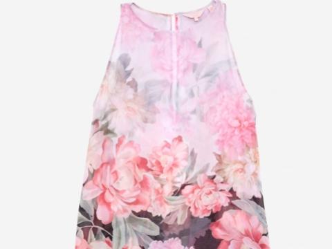 Ted Baker ADISONN baby pink dress $1,049