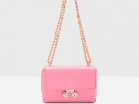 Ted Baker ADONI bright pink chain bag $1,695