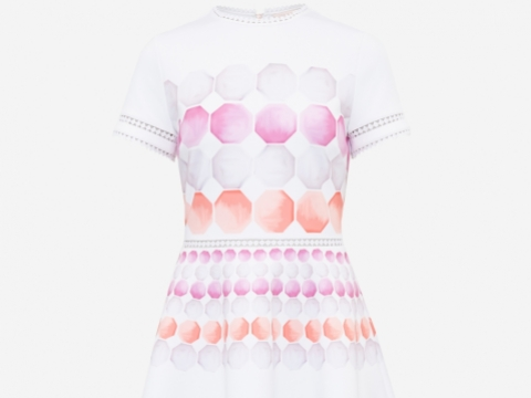 Ted Baker MYLEY pink dress $2,350