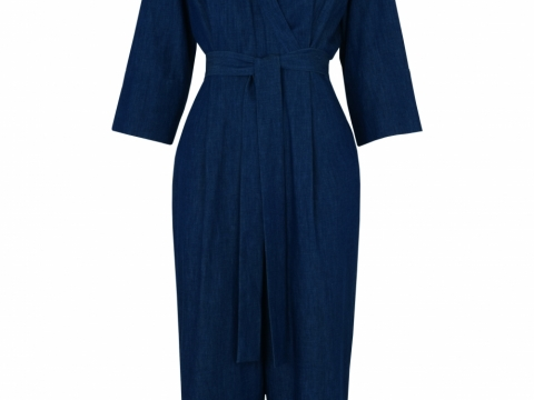 Whistles denim wrap tie jumpsuit $2,325