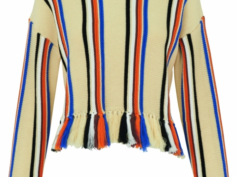 Whistles multi fringe detail stripe knit $1,775
