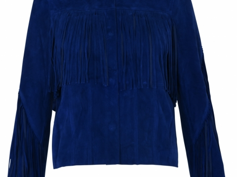 Whistles navy fringe suede jacket $7,635