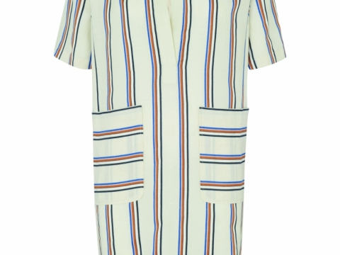 Whistles multi margharita stripe dress $1,855