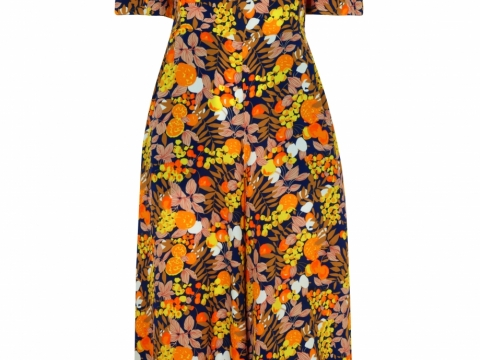 Whistles yellow-multi nadia citrus print bardot jumpsuit $3,425