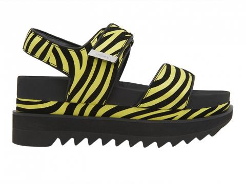 雙粗間抽帶船跟涼鞋(仿蛇紋/黄黑斑馬紋) $1,399