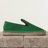 Celine Espadrille 綠色猄皮麻質底鞋  $4,100