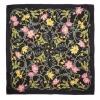 Gucci Flower Sweb 黑色拼淺紫色花卉圖案絲巾 $3,600