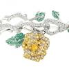 Dior Joaillerie 18K白金、鑽石、黃金、黃色藍寶石和祖母綠玫瑰形手鐲     售價待定