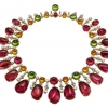 Bvlgari High Jewellery Collection Gala in Costa Smeralda necklace in pnk gold with rubellites, peridots, garnets & diamond (price upon request)