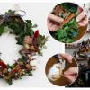 材料花墟買到!自製簡單聖誕乾花圈