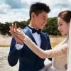 劉詩詩與吳奇隆婚紗大片  完美詮釋愛