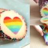 暗戀表白有妙法,自製彩虹愛心曲奇